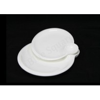 Round Plate with sauce dish