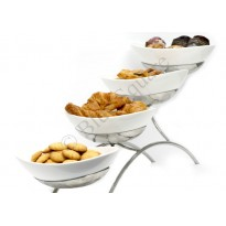 Buffet stand four steps oval bowls