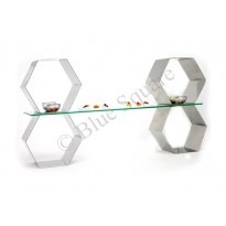 Buffet stand hexagon design