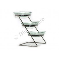 Glass plate for Buffet stand three step ladder design
