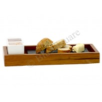 Wooden long tray