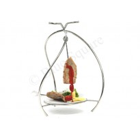BBQ Skewer with stand and plate