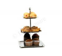 High tea stand square three tier