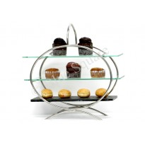 Glass for high tea stand